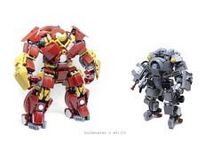 hulkbuster_mk1 (the_2_rabbits) Tags: lego hulkbuster mk1 ironman moc mech