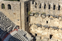 Aspendos_07 (Romeodesign) Tags: turkey trkei aspendos ruin theater antalya 550d mediterranean coast turkish riviera trkiye peninsula pamphylian ruins historic ancient roman amphitheatre theatre antique culture cultural monument romans architecture holiday urlaub steps tourists