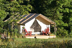 Let's Go Glamping! (eyriel) Tags: outdoors farm adirondacks luxury nature tent