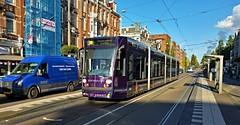 Paarse laagvlieger (Peter ( phonepics only) Eijkman) Tags: amsterdam city combino gvb tram transport trams tramtracks rail rails strassenbahn streetcars advertise nederland netherlands nederlandse noordholland holland