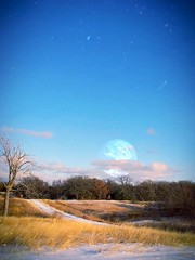 Before it all fell down (DeeAshley) Tags: deeashley travel view landscape vivid blue aliensky backroads pastoral pretty scenic rural southtexas hillcountry texas country county sky camerabag ipad iphone iphonography iphonoegraphy edited moon