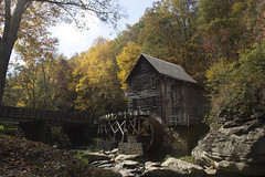 Glade Creek Grist Mill (DFChurch) Tags: glade creek grist mill babcock statepark wv autumn fall historic tree leaves leaf wheel scenic westvirginia