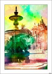 La ciudad de la luz (V- strom) Tags: texturas concepto viaje verde amarillo nikon nikon2470 urbana arquitectura luz color portugal oporto