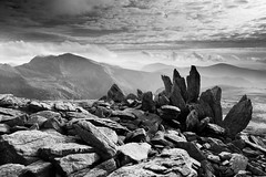 The Glyders and Snowdon (Jake Pike) Tags: wales snowdonia summer black white rocks geology glyders mountains light jake pike photography landscape view contrast lee filters canon