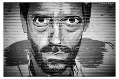 House! (I'mDKB) Tags: 2014 benalmadena july marina spain sunrise nikon nikond600 1835mm 1835mmf3545g imdkb lightroom5 lr5 hughlaurie blackandwhite photoborder monochrome people portrait shutter streetart