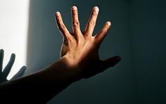 These Hands. (Leon.Antonio.James) Tags: 35mm 35mmfilm analog analogue cinematic contaxt2 dustgrainandscratch carlzeis 38mmf28 film filmisalive filmsnotdead grain hand shootfilmstaypoor ishootfilm ilovefilm ifyouleave kodak kodakgold200 leonantoniojames longlivefilm light minimal original