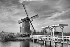 The museum windmill at Kinderdijk (Roland B43) Tags: windmill kinderdijk bridge netherlands pentax50mm17