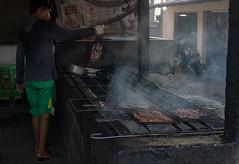Grilling the Day's Catch (ben_leash) Tags: blue jimbaran djimbaran sony a77 bali indonesia grill charcoal cooking food street streetfood