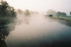 Canal, Fog, Film (Barnaby Nutt) Tags: 35mm 400 asph filmdev kodak leica m6 portra400 summicronm wordpress river soar leicestershire fpg fog mist morning