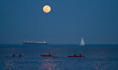Super moon, plate 3 (Michael Dunn~!) Tags: boats embarcadero goldenhour kayaks moon photowalking photowalking20120505 photowalkingsolo sailboat sanfrancisco sky supermoon water