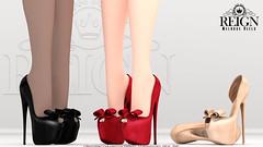 REIGN.- MELROSE HEELS (Kenadee Reign) Tags: reign teamreign tmp themeshproject theshops secondlife shoes slink heels hourglass maitreya mesh pumps platform