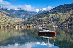 Zell am See, Autria (Dragstar70) Tags: zell am see austria mountain zeller glacier kitzsteinhorn autumn grand hotel salzburg lake view awesome boat fog