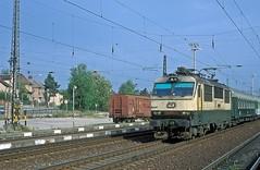 150 019  Uvaly  21.05.98 (w. + h. brutzer) Tags: uvaly eisenbahn eisenbahnen train railway elok tschechien webru analog nikon 150 slowakei zug cd zsr
