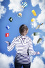 Juggling COUNT TEA CORN WALL (Sharpe Shooter - paulbnashphotography.com) Tags: cornwall county juggling corn tea wall count numbers blue sky lady woman juggler kernow uk composite