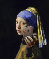 Girl With Pearl Earring And iPhone 7 (Marty Bishop) Tags: iphone pearlearring vermeer