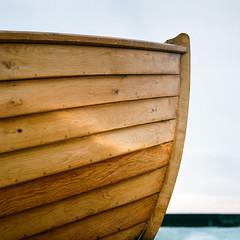 Bow - Kodak Ektar 100 (magnus.joensson) Tags: sweden swedish skne south coast boat sunset hasselblad 500cm zeiss planar 100mm cf smyge c41 kodak ektar 100