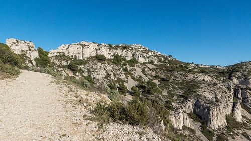 Sentier bleu vers Marseilleveyre