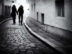 sunday walk (Sandy...J) Tags: olympus oldtown monochrom fotografie mono noir women cobblestones kopfsteinpflaster love people photography atmosphere atmosphre altstadt walk walking white blackwhite bw black bayern bavarian city deutschland einfarbig entspannt germany gehen menschen frau shadow light silhouette licht man mann spazieren street streetphotography sw schwarzweis strasenfotografie stadt liebe urban