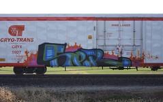 Cinco (quiet-silence) Tags: graffiti graff freight fr8 train railroad railcar art cinco aub lsd cryx cryo cryotrans reefer cryx5927