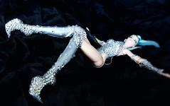 Cosmic Kicks! (ozthegreatandpowerful) Tags: fashion royalty fr2 cream barbie twilight doll reroot repaint custom ooak celeste space girl boots swarovski