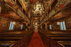 I like the silence of a church, before the service begins better than any preaching. (Christolakis) Tags: habo church sweden paintings religious