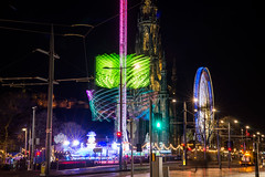 See me sitting in the palm tree (OR_U) Tags: 2016 oru uk scotland edinburgh scottmonument princesstreet le longexposure night nightphotography nightlights merrygoround abba