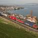SBB Cargo Re 10/10 mit Containerzug bei Einigen