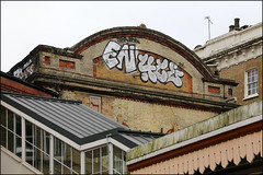Enta / 4ce (Alex Ellison) Tags: 4ce force enta westlondon urban chrome trackside railway rooftop graffiti graff boobs