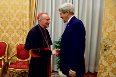 Secretary Kerry is Greeted by Vatican Secretary of State Parolin at the Vatican (U.S. Department of State) Tags: johnkerry vaticancity vatican pietroparolin