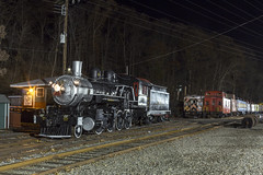 Whippany Railway Museum...at Night (sully7302) Tags: whippany museum steam engine railroad comet i pullman caboose