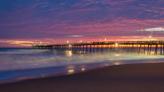 Pier Color (APGougePhotography) Tags: longexposure long exposure pier ocean outerbanks obx outer north banks avalon nagshead carolina northcarolina adobe adobelightroom lightroom nikon nikond800 d800 color dawn sun sunrise surf beach sand