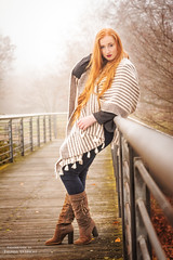 Herbstfeuer (ThUL_Photographie) Tags: female autumn portrait girl redlips herbst redhair modelling people fashion portrt menschen 2016 pia outdoor model
