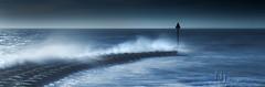 Beyond The Blue (Nigel Jones LRPS) Tags: felixstowe suffolk winter storm waves breakers groynes sea defence marker post cold