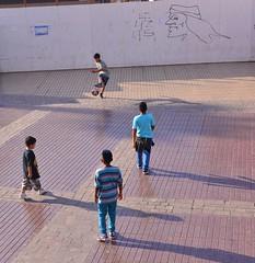 Messi Shoots! (Ctuna8162) Tags: antofagasta chile afternoon mercados boys footbal soccer play street colacola