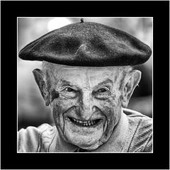 Nameless Strangers (SK Monos) Tags: mature male portrait character monochrome blackwhite photo border joy life laughter face homme outdoor old