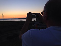 Admiring the sunset (AlanJ97) Tags: ireland sunset summer photo clare lahinch surfcity lehinch