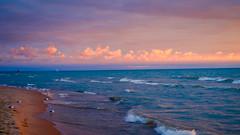 North-Beach-Sunset- (qhs232) Tags: sunset seagulls lighthouse lake water michigan greatlakes fujifilm southhaven primelens fujix xe2 puremichigan fuji35mm14 fujixe2