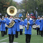 Marching band performing.