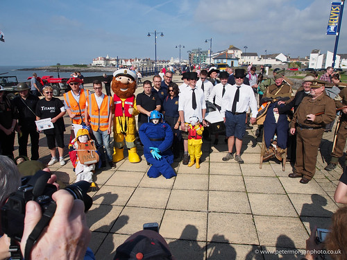 SS Cato Ceremony Porthcawl RNLI Sponsored Barrel Smuggling Teams