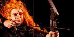 Entflammt (Setekh81) Tags: portrait collage studio kino natur clarissa wege bogen wettbewerb schiesen panem vereine