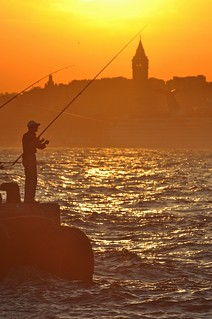 Sunset Istanbul and Galata Tower