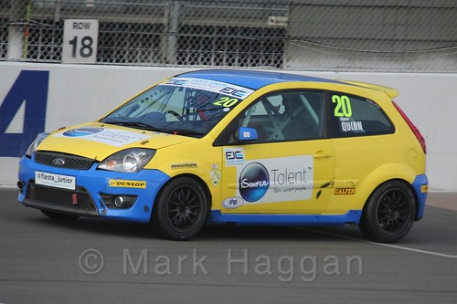 Ronan Quinn in Race 1, Fiesta Junior Championship, Rockingham, Sept 2015