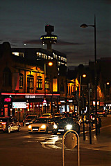 City Lights, Liverpool (ronramstew) Tags: street night liverpool lights traffic mersey merseyside stjohnsbeacon renshawstreet 2015 2010s