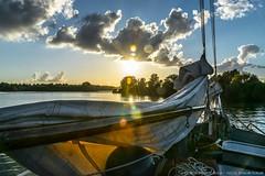 "Sunset aboard the tjalk ""de Egelantier"" (ParadoX_Design) Tags: sunset sky sun lake water amsterdam clouds sailboat boat zonsondergang nikon meer sailing sundown wolken sail lucht zon rigging touw tjalk zeil gooimeer gooi zeilboot roping aboard ijmeer touwen touwwerk egelantier d5300"