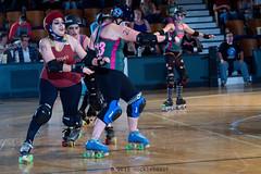 rebels_vs_panic_L3506433 1 (nocklebeast) Tags: ca usa santacruz rollerderby rollergirls zombies vampires skates organicpanic santacruzderbygirls redwoodrebels