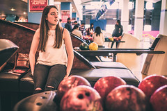 More than a game (Mark Grant-Jones) Tags: girl sport 35mm ball prime model nikon bokeh competition belfast bowl bowling recreation fullframe nikkor fx fav10 fav25 d810