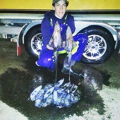 James Papas with some squid. #squid #Stormline #stormlinegear #fishing #catchoftheday #australianfishing