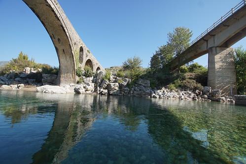 Return to the Sinan Bridge at Mesi, near Shkodra in Albania