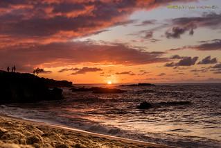 Sunset Waimea bay