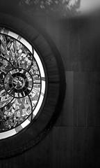 outdoor school / school in nature Volyně (ondey) Tags: blackandwhite bw art architecture stainedglass diningroom czechrepublic architekt czechia architektura southbohemia outdoorschool konopka jižníčechy umění jídelna vitráž volyně školavpřírodě schoolinnature vevolyni ladislavkonopka